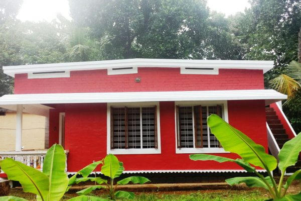65 cents land with a house at Kallada,Kollam district